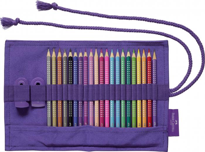 Rollup 20 creioane colorate Sparkle +1 Creion Sparkle + accesorii Faber-Castell [7]