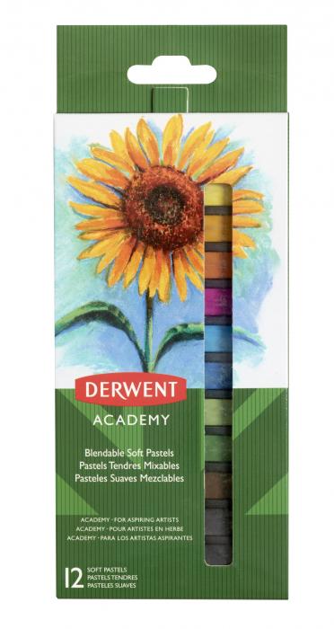 Creioane pastel soft, 12 buc/set Derwent Academy [0]