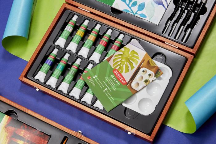 Acuarele 12 Culori x 12 ml, cutie din lemn, 20 buc/set Derwent Academy [4]
