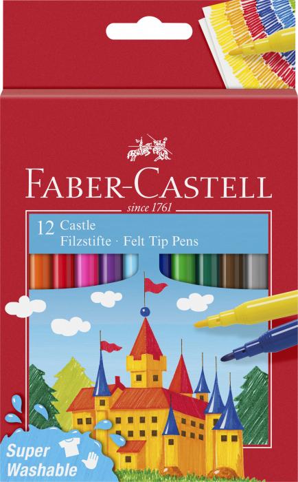 Carioci Super Washable 12 culori Faber-Castell 0