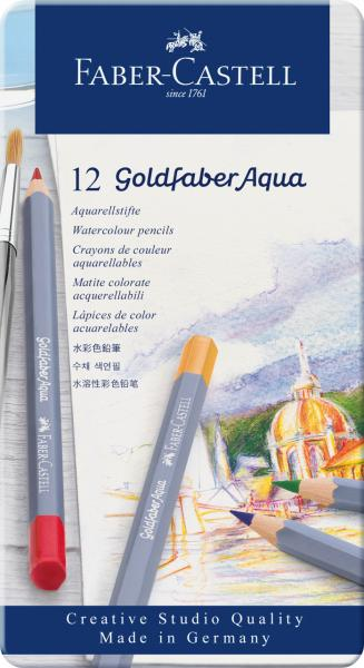 CREIOANE COLORATE AQUARELLE 12 CULORI GOLDFABER CUT. METAL Faber-Castell [0]