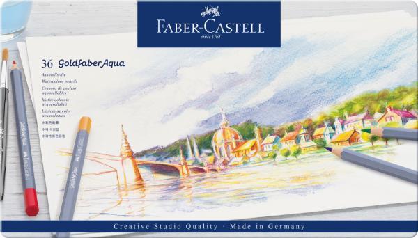 CREIOANE COLORATE AQUARELLE 36 CULORI GOLDFABER CUT. METAL Faber-Castell [0]