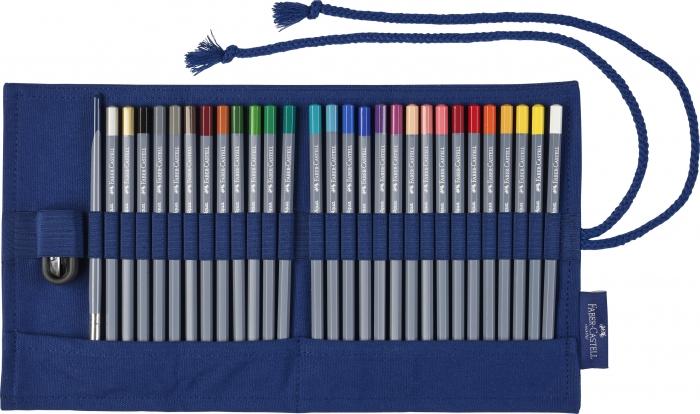 Rollup 27 Creioane Colorate Aquarelle Goldfaber+Accesorii Faber-Castell 0