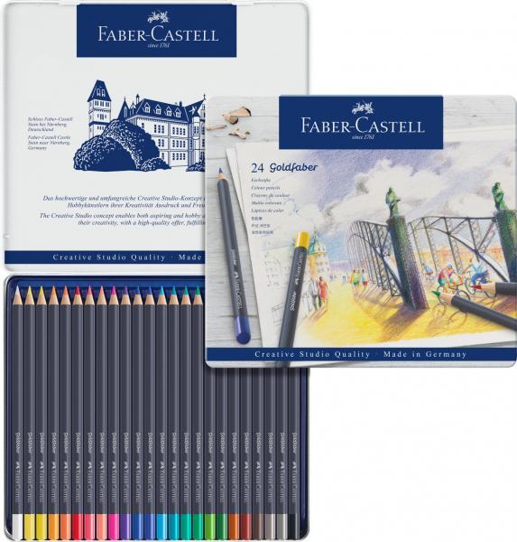 CREIOANE COLORATE 24 CULORI GOLDFABER CUTIE METAL Faber-Castell 2