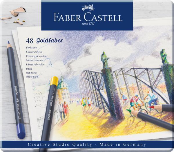 CREIOANE COLORATE 48 CULORI GOLDFABER CUTIE METAL Faber-Castell [0]