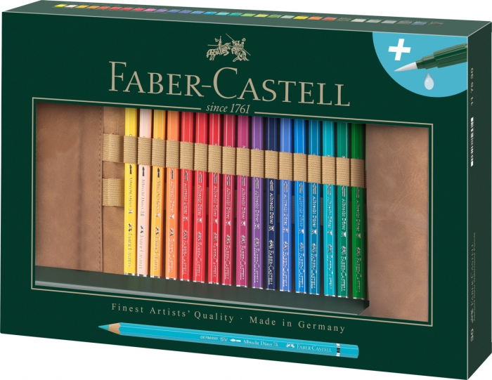 Rollup 30 Creioane Colorate A.Durer & Accesorii Faber-Castell 0