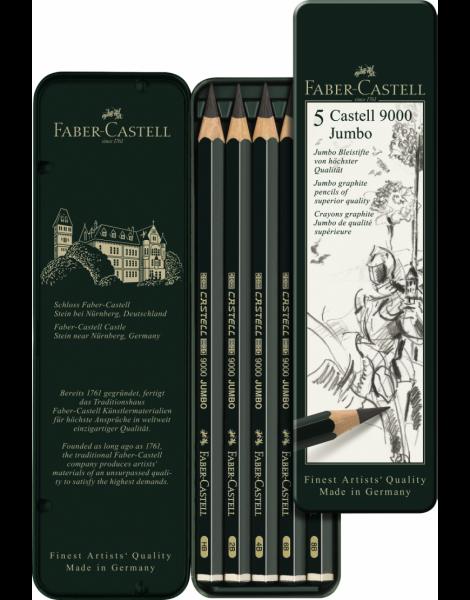 SET 5 BUC GRAFIT CASTELL 9000 JUMBO Faber-Castell 0