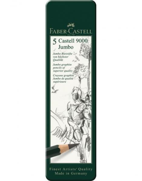 SET 5 BUC GRAFIT CASTELL 9000 JUMBO Faber-Castell 1
