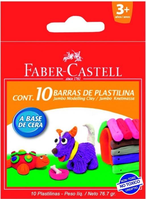 Plastilina 10 Culori 90G Faber-Castell [0]