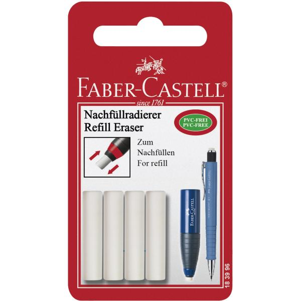 Blister 4 Buc Radiera pt POLY MATIC Faber-Castell 0