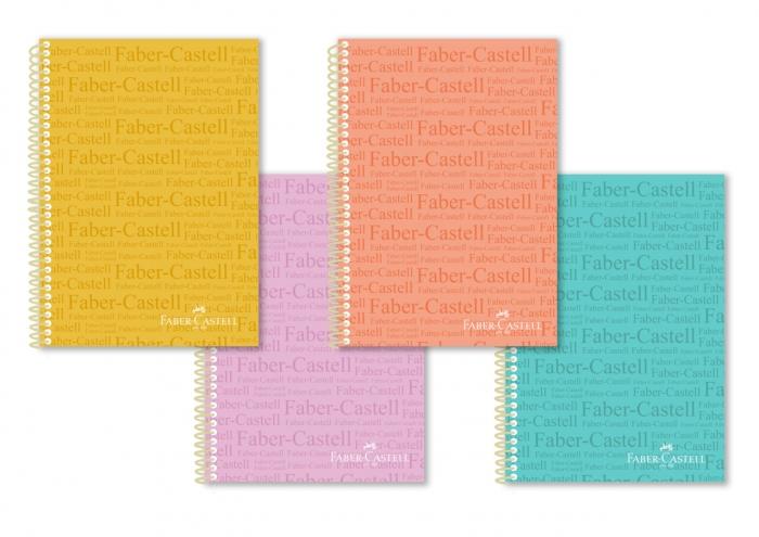 Caiet Spira A4 100F Dictando Coperta PP Culori Pastell Faber-Castell [0]