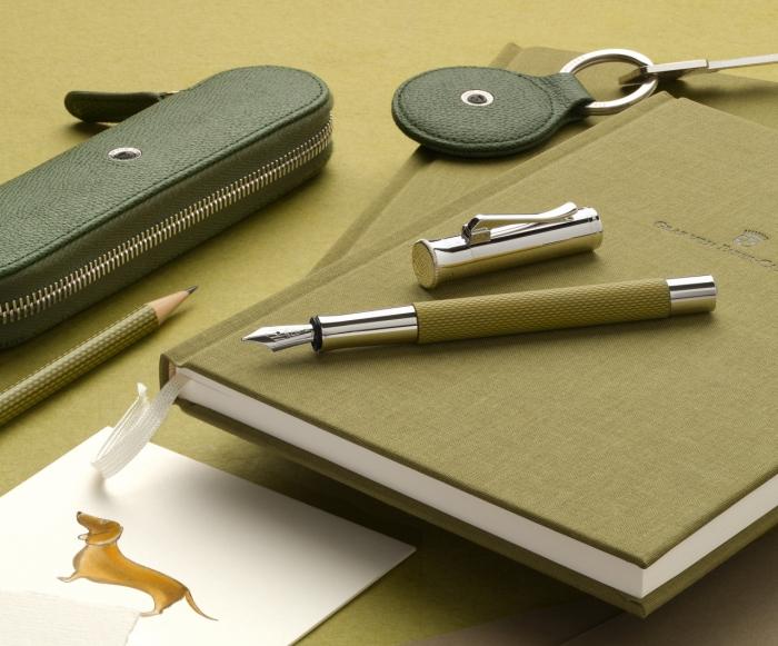 Agenda A5 Olive Green Graf Von Faber-Castell 1