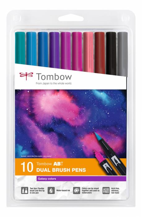 ABT Dual Brush Pen Galaxy Colors Set 10 Culori Tombow 0