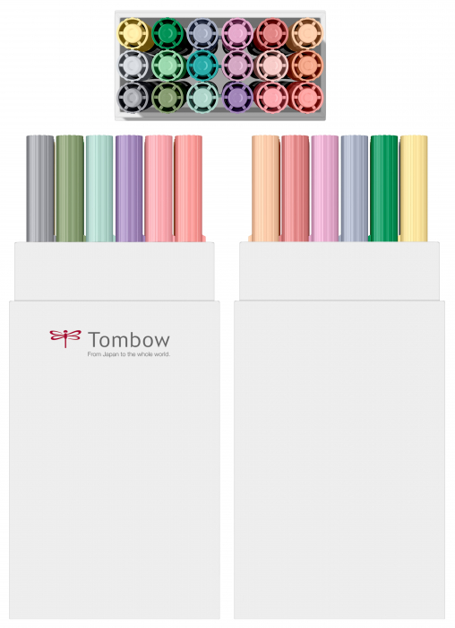 ABT Dual Brush Pen Pastel Colours - set 18 culori Tombow 1