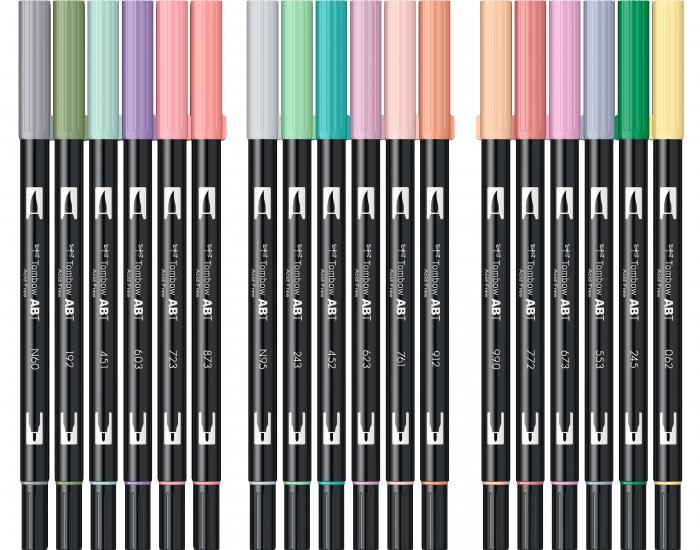 ABT Dual Brush Pen Pastel Colours - set 18 culori Tombow 5