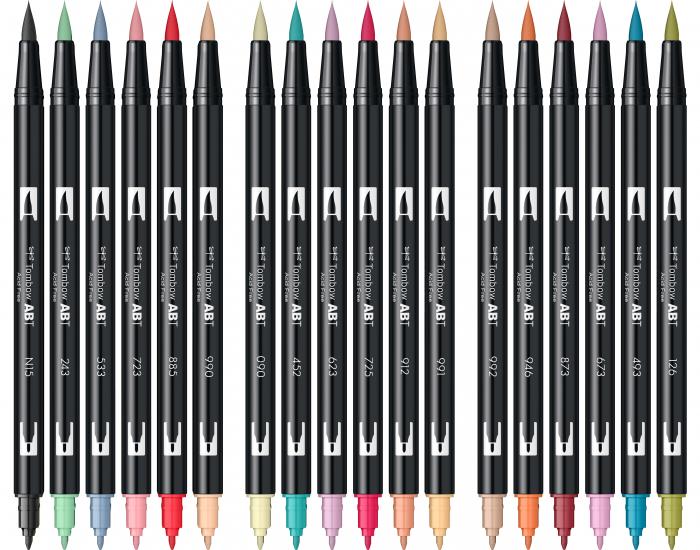 ABT Dual Brush Pen Secundary Colours - set 18 culori Tombow 6
