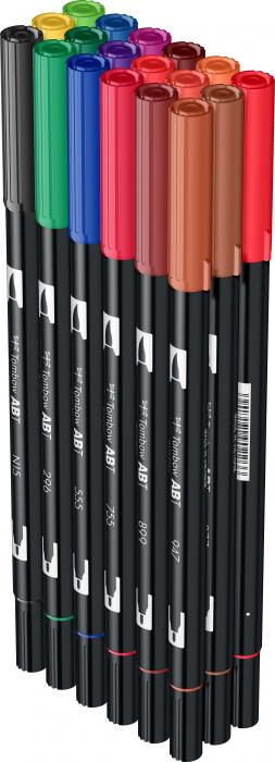ABT Dual Brush Pen Primary Colours - set 18 culori Tombow 3