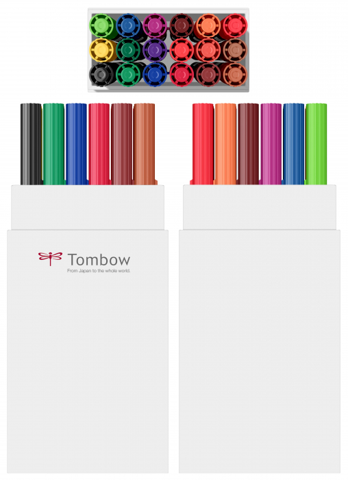 ABT Dual Brush Pen Primary Colours - set 18 culori Tombow 1