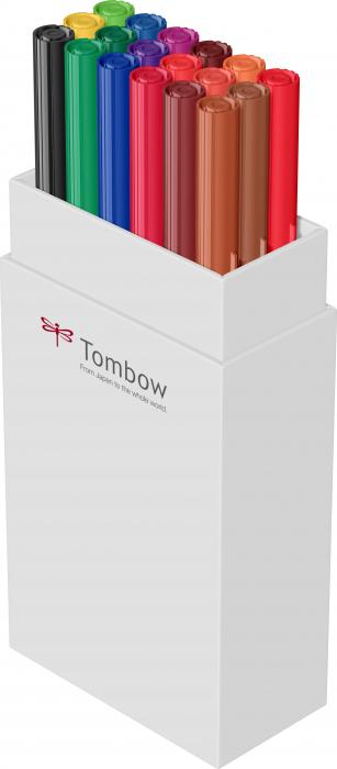 ABT Dual Brush Pen Primary Colours - set 18 culori Tombow 6