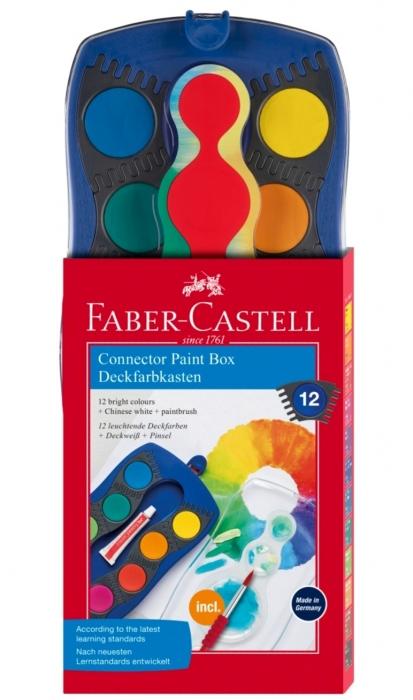 Acuarele 12 Culori Connector Albastre Faber-Castell 0