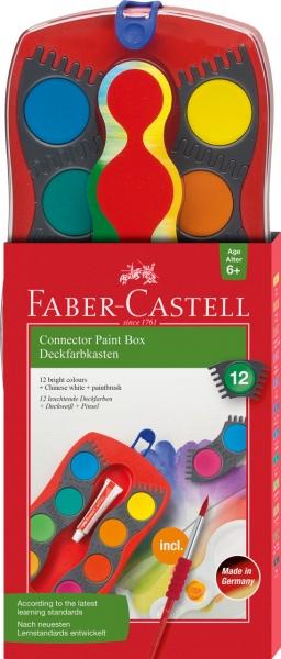 Acuarele 12 Culori Connector Faber-Castell 0