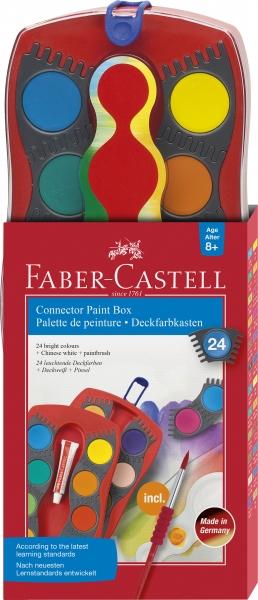 Acuarele 24 Culori Connector Faber-Castell 0