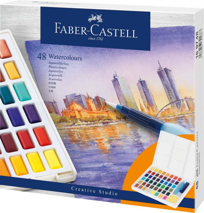 Acuarele 48 Culori Creative Studio Faber-Castell 2