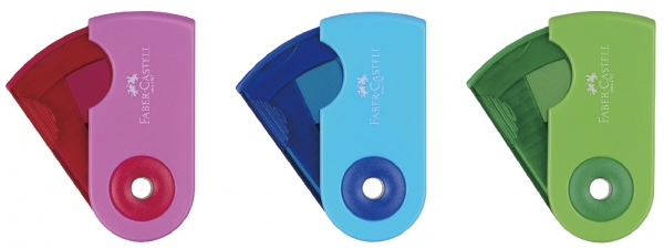Ascutitoare Plastic Simpla Sleeve-Mini Pastel Faber-Castell 3