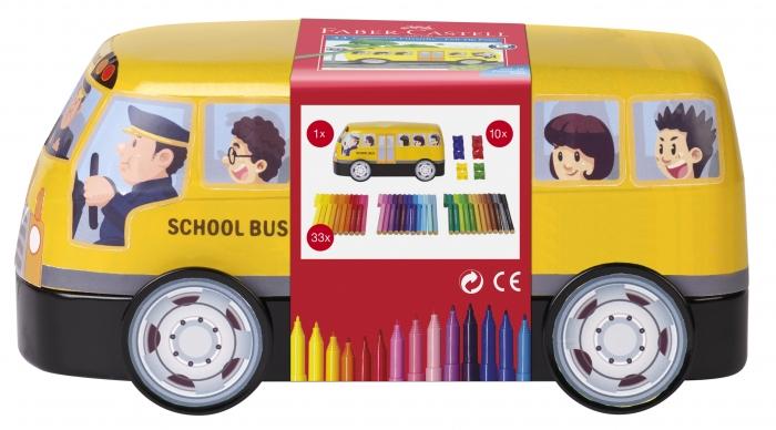 Carioca Connector 33 Culori, Autobuz Scolar Faber-Castell [0]