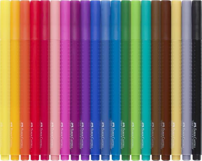 Carioci Grip 20 de culori Faber-Castell [3]