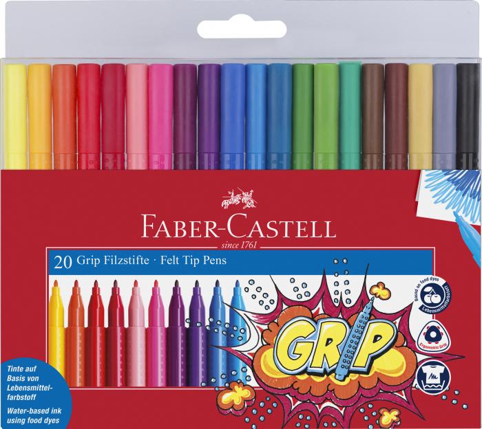 Carioci Grip 20 de culori Faber-Castell [0]