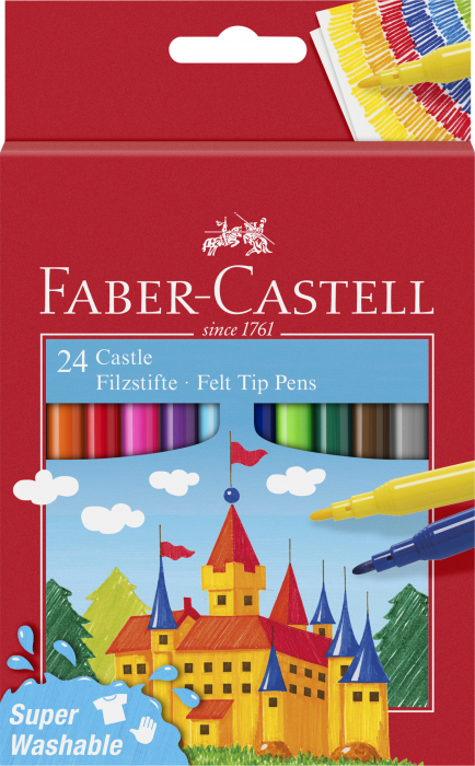 Carioci Super Washable 24 culori Faber-Castell 0