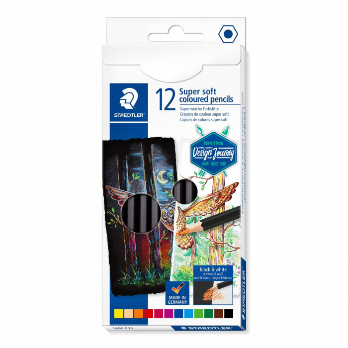Creioane Colorate 12 Culori SUPER SOFT Cutie Carton STAEDTLER [0]