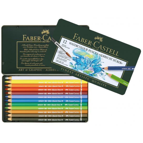 Creioane Colorate Acuarela A.DURER 12 Culori Faber-Castell 0