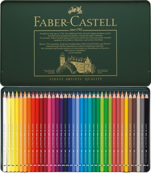 Creioane Colorate Acuarela A.Durer 36 culori, cutie metal Faber-Castell 1