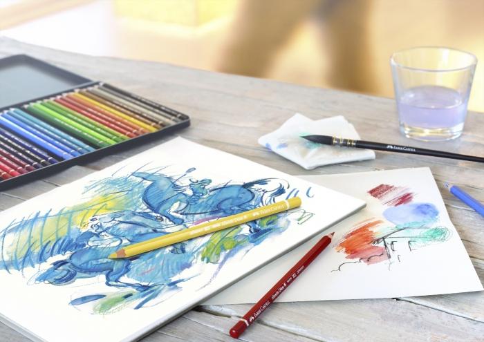 Creioane Colorate Acuarela A.Durer 60 culori, cutie metal Faber-Castell [4]