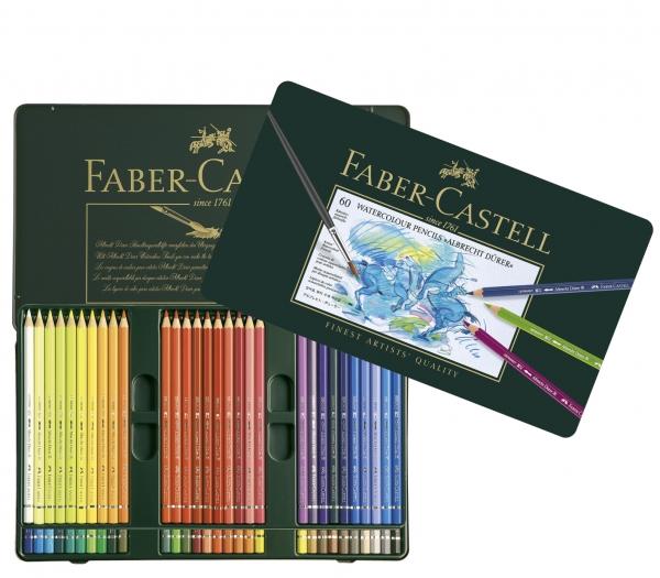 Creioane Colorate Acuarela A.Durer 60 culori, cutie metal Faber-Castell [0]