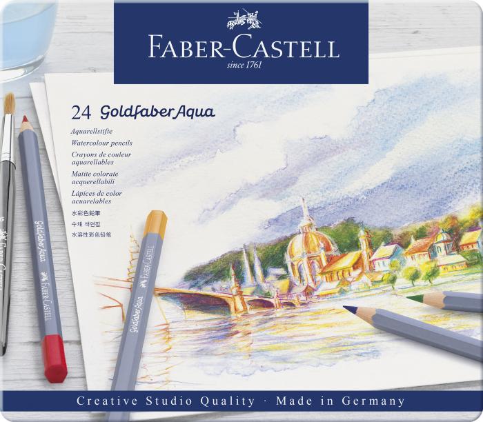 CREIOANE COLORATE AQUARELLE 24 CULORI GOLDFABER CUT. METAL Faber-Castell 0