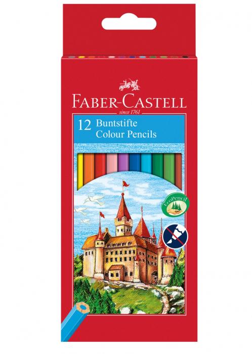 Creioane Colorate Eco 12 culori, cutie carton Faber-Castell [0]