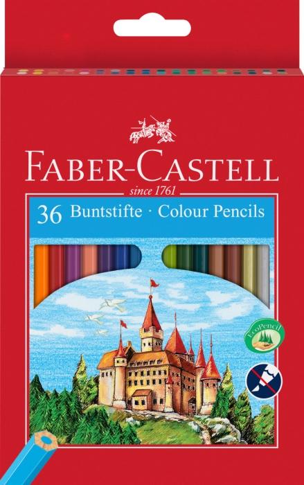 Creioane Colorate Eco 36 culori / cutie carton Faber-Castell 0