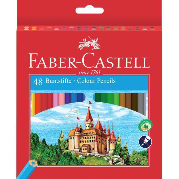Creioane Colorate Eco 48 culori / cutie carton + ascutitoare Faber-Castell 0