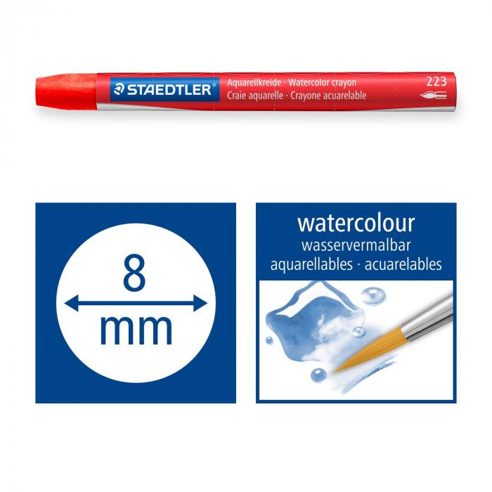 Creioane Colorate Karat Aquarelle 24 buc. Staedter 5