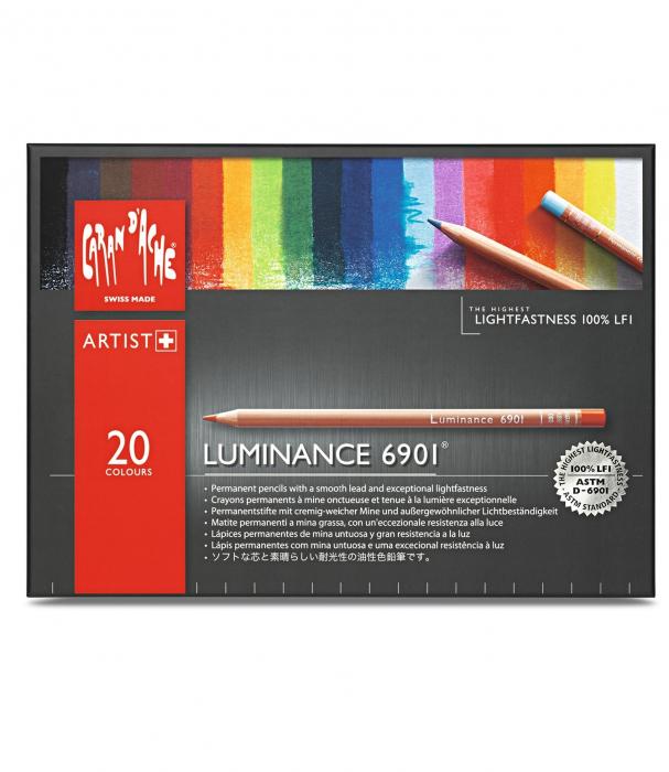 Creioane Colorate LUMINANCE 6901 20 culori Caran d'Ache [0]