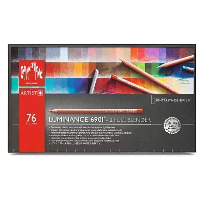 Creioane Colorate LUMINANCE 6901 76+2 culori Caran d'Ache [1]