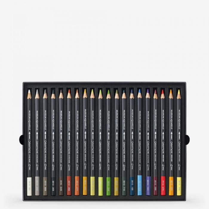 Creioane Colorate MUSEUM AQUARELLE 20 culori Landscape Caran d'Ache 2