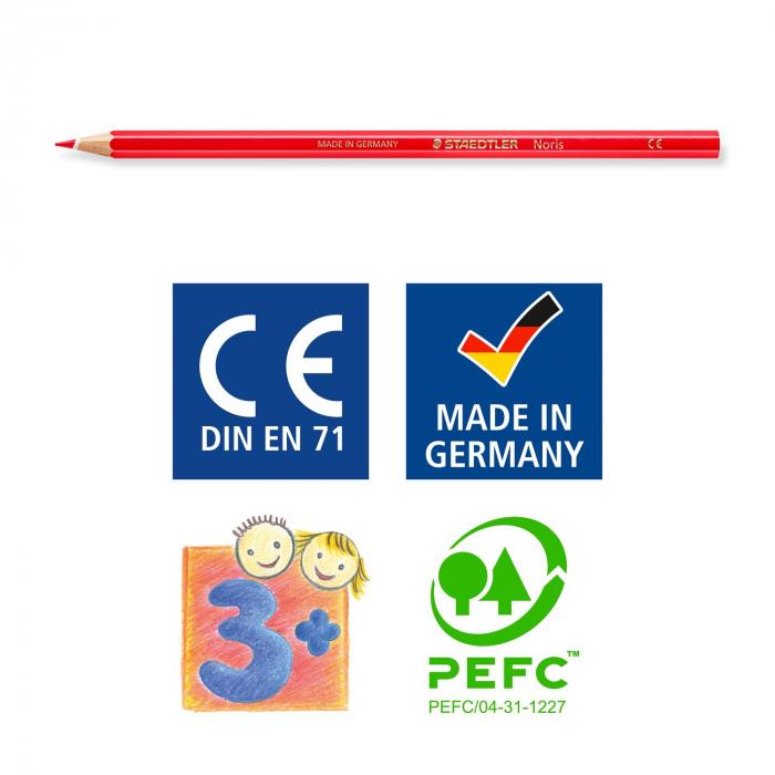 Creioane Colorate NORIS Aquarelle 24 Culori Staedtler [6]