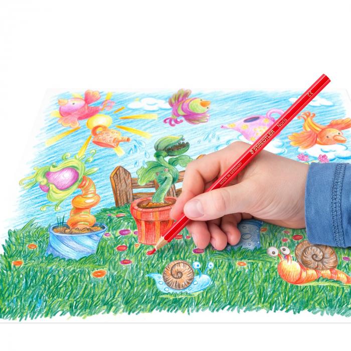 Creioane Colorate NORIS Aquarelle 12 Culori Staedtler 4