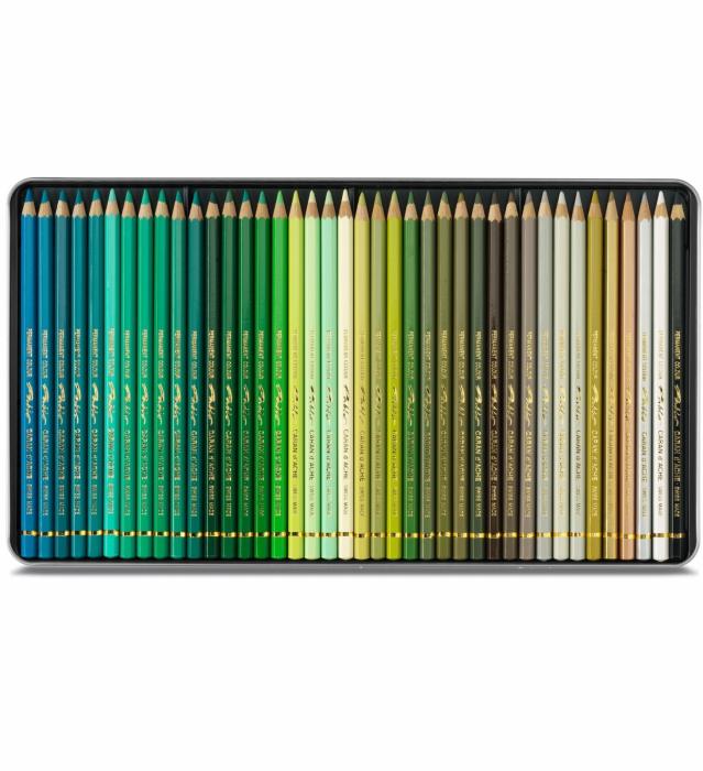 CREIOANE COLORATE PABLO 120 culori - cutie lemn Caran d'Ache 3