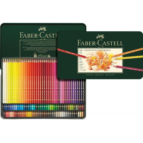 Creioane ColoratePolychromos 120 Culori, Faber-Castell [1]