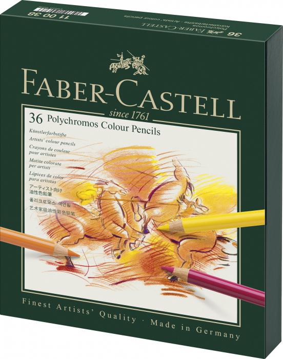 Creioane Colorate Polychromos 36 Culori Cutie Studio Faber-Castell 0